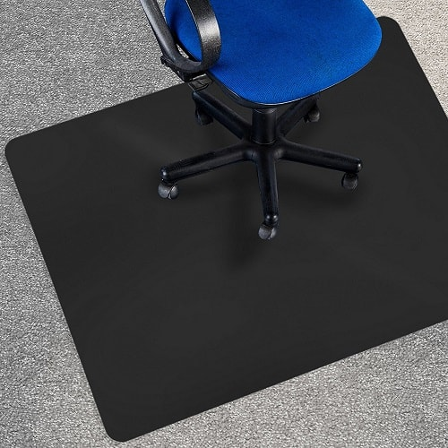 Office Marshal's Black Polycarbonate Chair mat