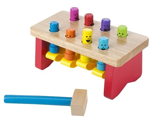 Wooden Punding Bench Toy With Mallet best Christmas gift for children