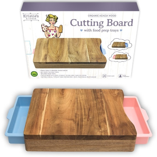 Chopping board with two drawers
