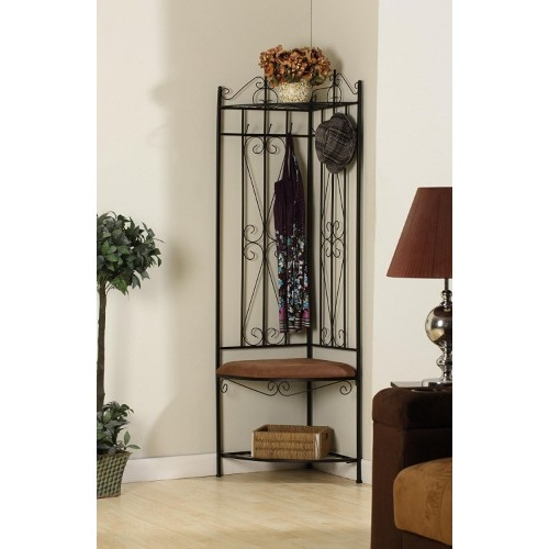 Metal corn coat rack and bench