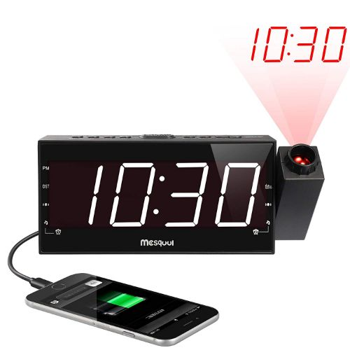 4.Mesqool Projection Alarm Clock for Bedroom